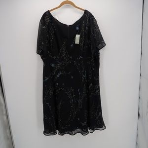 NWT Venezia Floral Sheer Lace Tunic Blouse Top